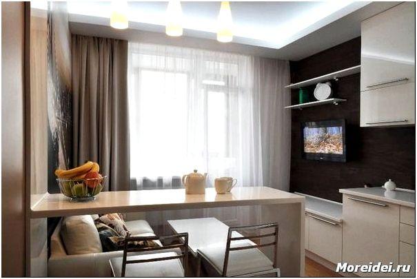 Дизайн кухни-гостиной 15 кв. м