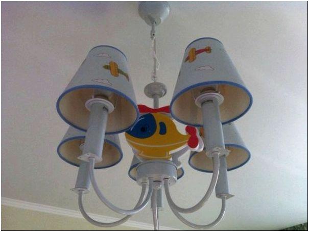 Оригинальные и интересные идеи детской люстры для мальчиков, фото