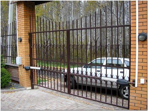 Фото 5 – Ворота из металлических труб