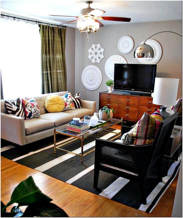 дизайн небольшой гостиной комнаты фото