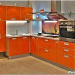 Апельсиновое настроение. кухня оранжевого цвета