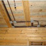 Скрытая проводка в деревяном доме