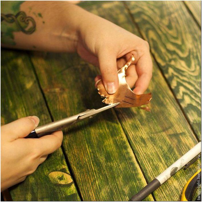 Создаем кулон в виде осеннего листа из меди - Ярмарка Мастеров ...