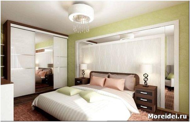 фото дизайна спальни 14 кв.м