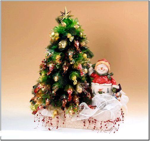 Фото 13 – Самодельная елка с карамельками