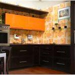 Черно-оранжевая кухня: 20 фото примеров