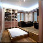 Дизайн гостиной-спальни. зонировать или не зонировать?