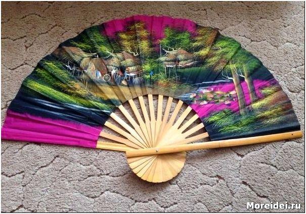 Китайский веер на стену своими руками 58
