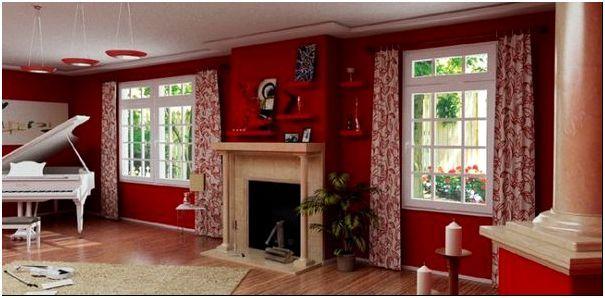 Длинные шторы визуально увеличат высоту комнаты