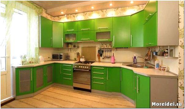 кухни зеленые дизайн фото