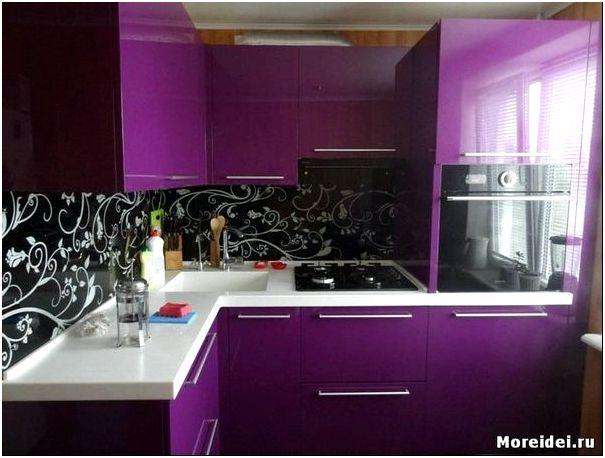 кухни сиреневые дизайн фото