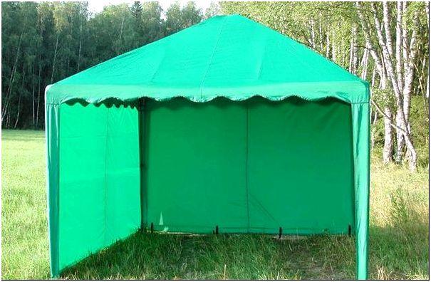 Фото 3 – Беседка-шатер для дачи