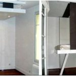 Кровать под потолком 15 фото