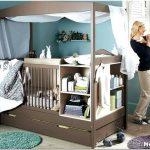 Дизайн комнаты родителей с детской кроваткой