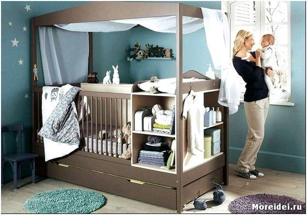 Дизайн комнаты с детской кроваткой