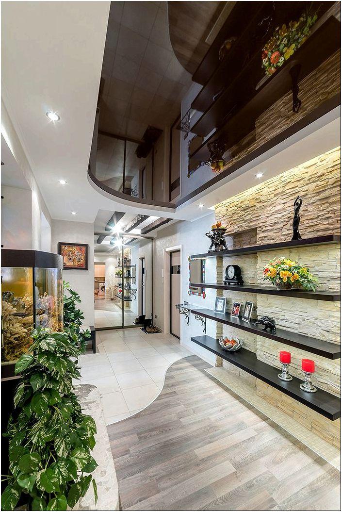 Фото отделки прихожей и коридора декоративным камнем