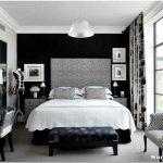 Черно-белый интерьер: спальня для поклонников контрастных сочетаний