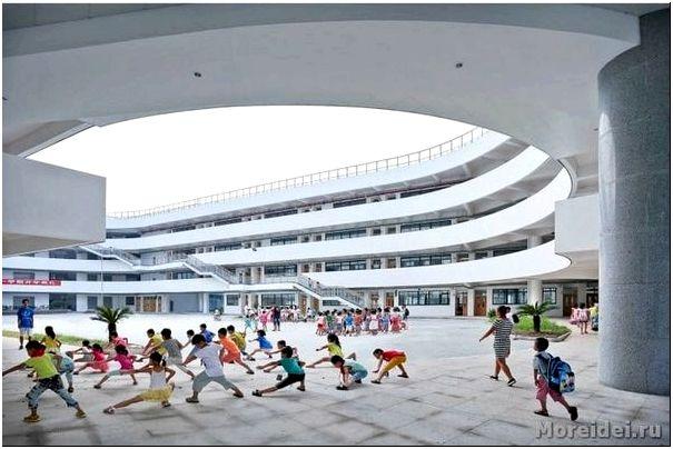 стадион на крыше школы