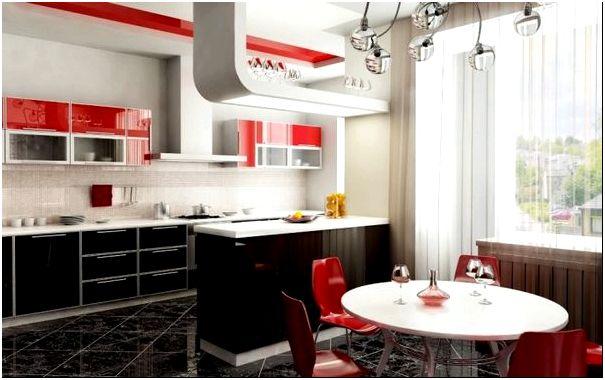 Сочетание общего дизайна со стилем подвесных люстр на кухню