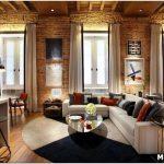 Стильный, современный и сдержанный стиль лофт в интерьере гостиной