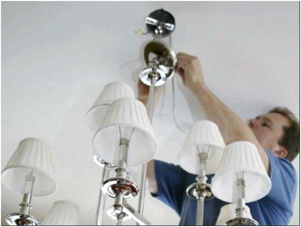 Подключение трехпроводной люстры