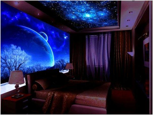 Фото 2 - Художественная роспись потолка и стен светонакапливающими красками AcmeLight
