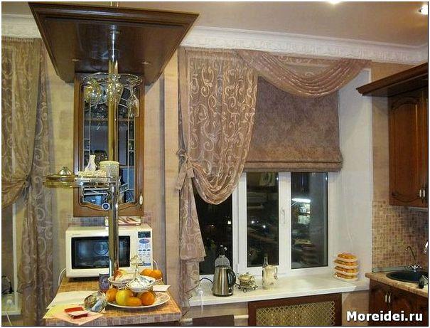 Дизайн окна на кухню