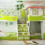 Уютная и практичная детская комната для троих детей