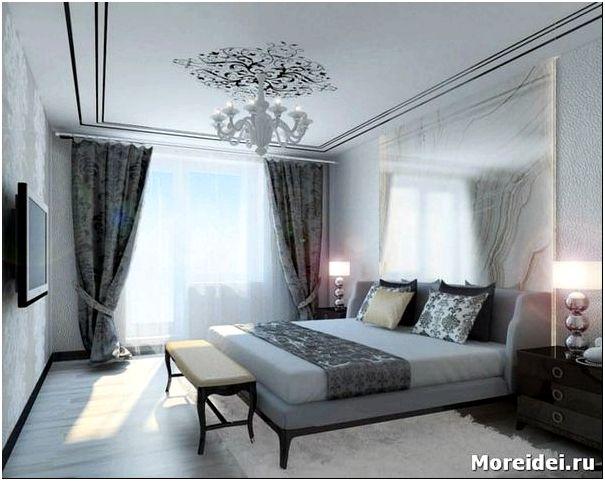 дизайн серой спальни