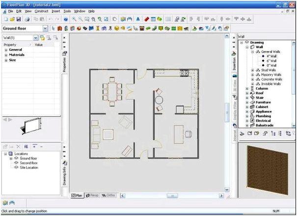 Пользовательский интерфейс FloorPlan 3D Design Suite 11.2.60