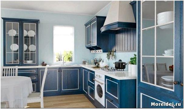 морской стиль в дизайне кухни