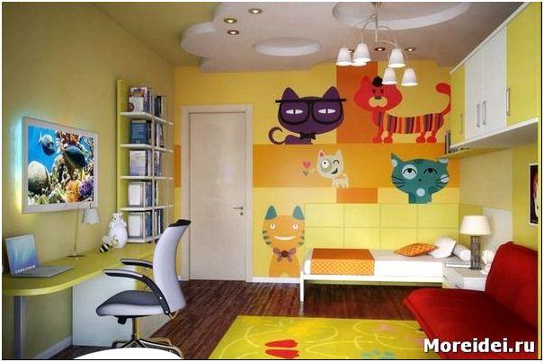 Дизайн современной комнаты для девочки