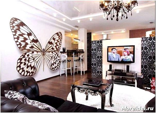 Дизайн гостиной с фотообоями