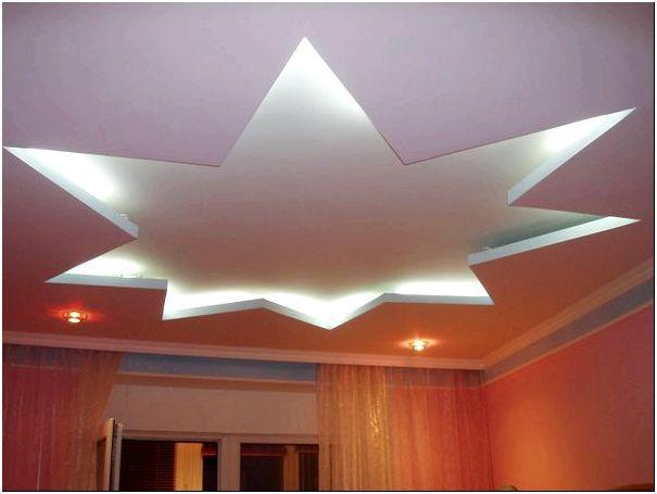 Фото 1 - Оригинальный двухуровневый потолок