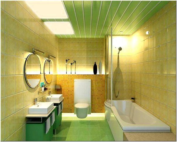 Фото 4 - Пластиковый реечный потолок в ванной