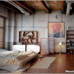 Суровые очертания спальни в стиле лофт — 11 фото