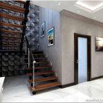 Приемы оформления дизайна коридора с лестницей