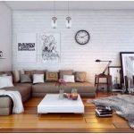 Кирпичная стена в интерьере гостиной: стильный и необычный элемент
