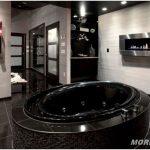 Дизайн черной ванной комнаты — 20 фото