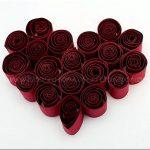 Квиллинг поделки — делаем красное сердце