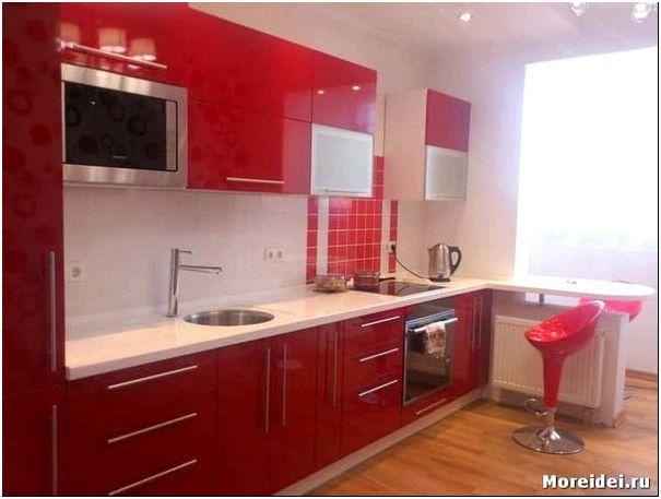 красная кухня дизайн