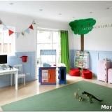 Стильный и удобный дизайн детской игровой комнаты