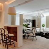 Интерьер двухкомнатной квартиры: минимализм и арт-деко