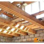 Межэтажные перекрытия по деревянным балкам — экологичность совмещённая с экономией