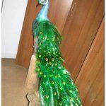 Птица счастья: павлин из пластиковой бутылки