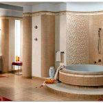 Варианты отделки ванной комнаты плиткой, фото