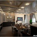 5 Достоинств элегантного дизайна кухни совмещенной с гостиной в частном доме