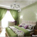 Как правильно оформить дизайн спальни в зелёных тонах?