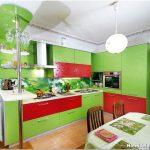 Интерьер салатовой кухни: как добавить помещению весеннего настроения